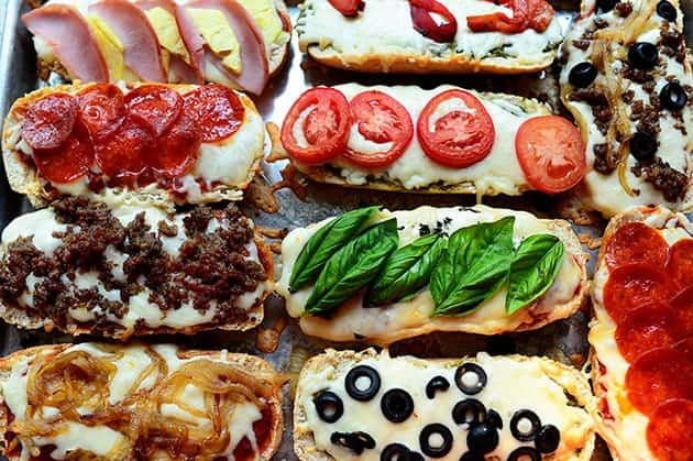 french bread pizzas the pioneer woman cooks - 14 Easy Meals For 2 On A Budget