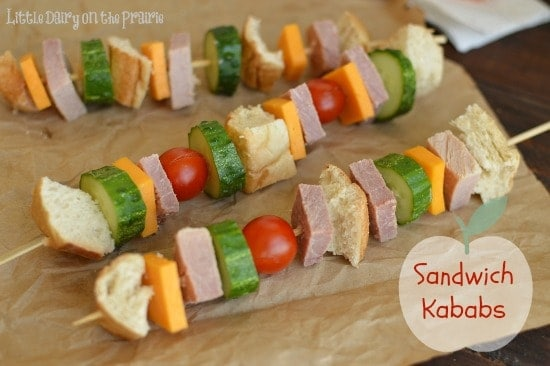 ham and cheese sandwich kebabs little diary on the prairie - 8 Healthy Snacks Your Kids Will Love