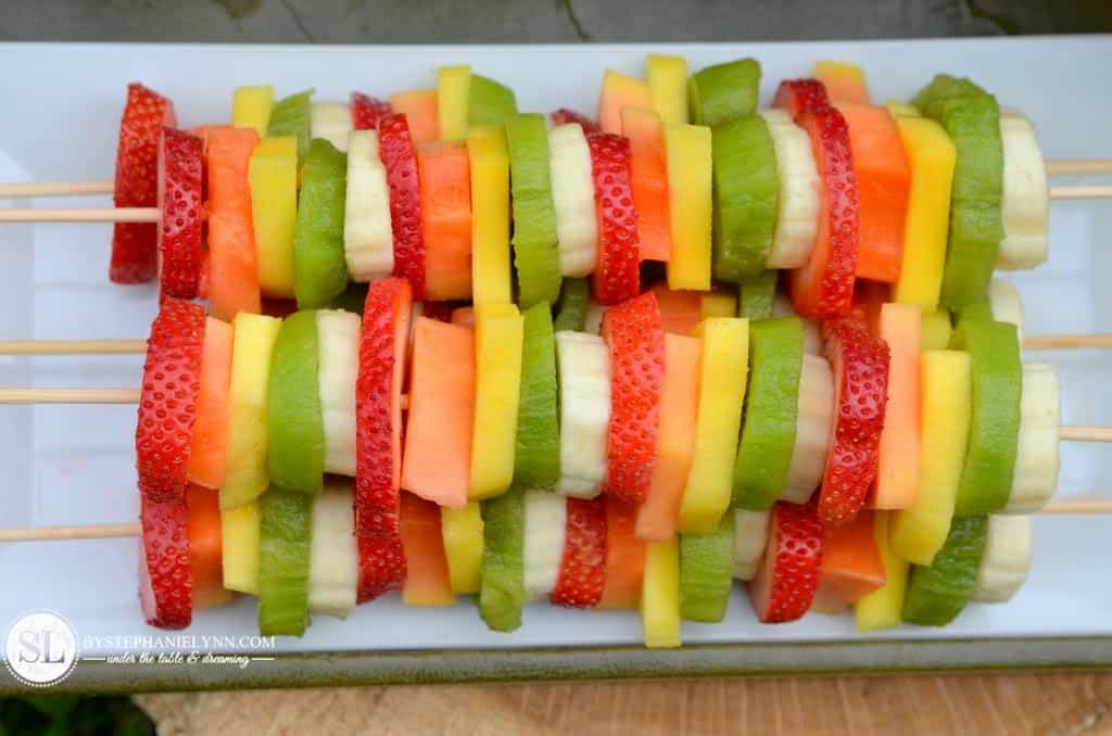 fruit kebobs by stephanie lynn 1024x678 - 8 Healthy Snacks Your Kids Will Love