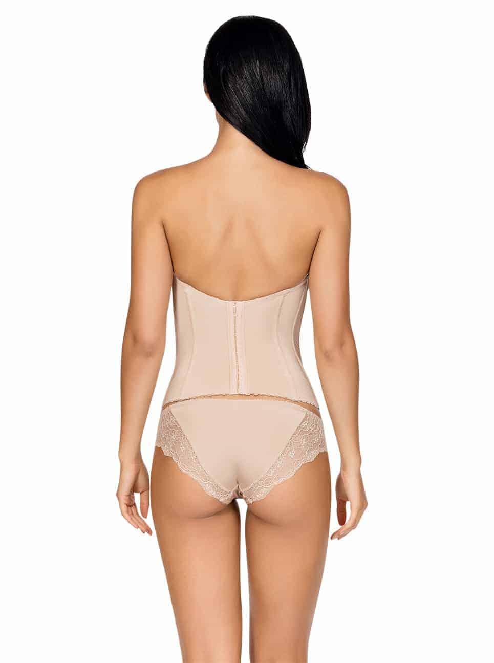 Elissa Low BackBustierP5017 BikiniP5013 EuropeanNude Back - Elissa Low-Back Bustier Nude P5017