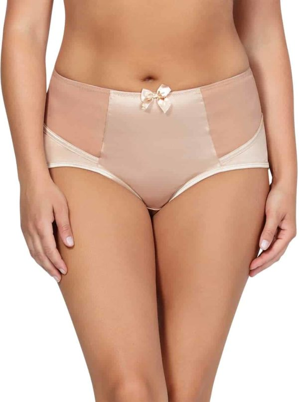 Charlotte HighwaistBrief6917 TrueNude Front2 600x805 - Charlotte Highwaist Brief - True Nude - 6917