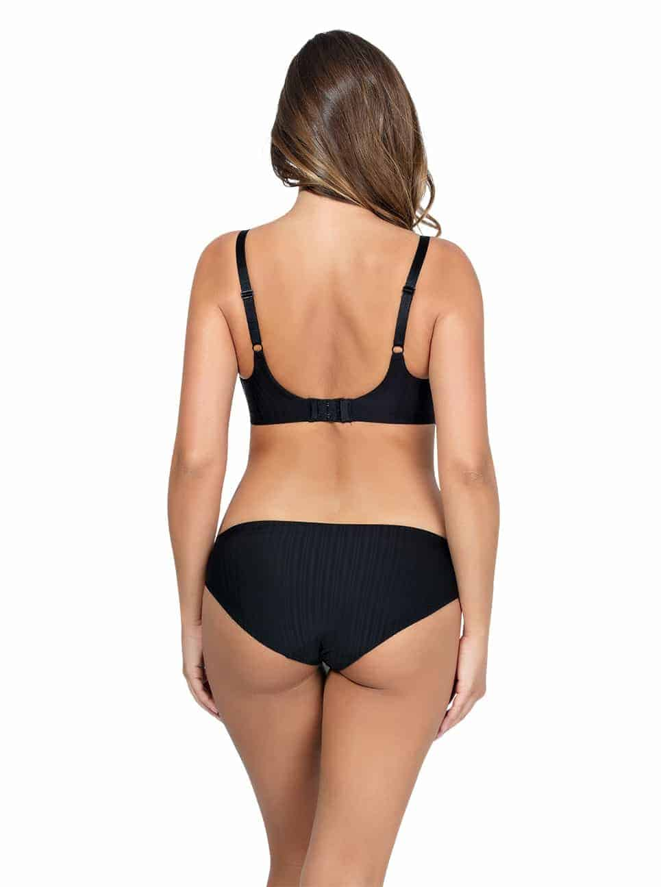 PARFAIT Aline Wire FreePaddedBraP5252 BikiniP5253 Black Back2 - Aline Wire-Free Padded Bra - Black - P5252
