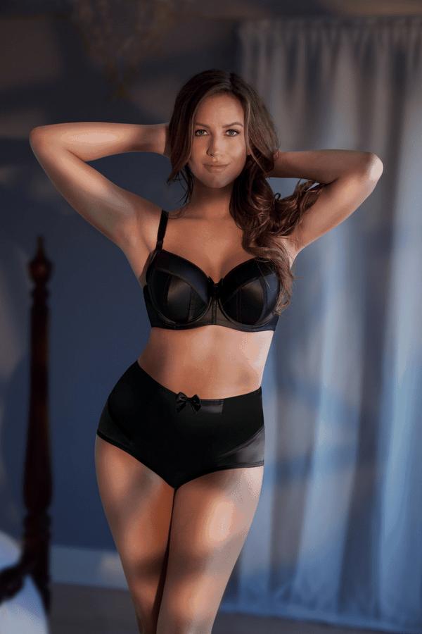 sexy black bra and panties
