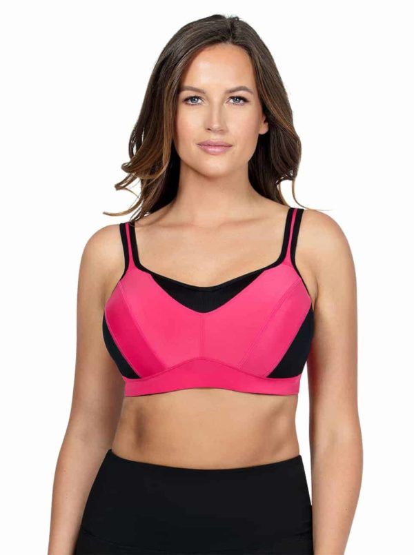 ParfaitActive SportsBraPP541 ClaretRed Front 600x805 - Dynamic Sports Bra - Claret Red - P5541