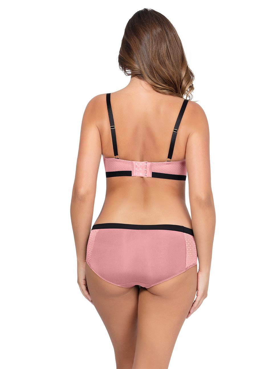 Romina UnlinedWireBraP5522 HipsterP5525 QuartzPink Back - Romina Unlined Wire Bra - Quartz Pink - P5522