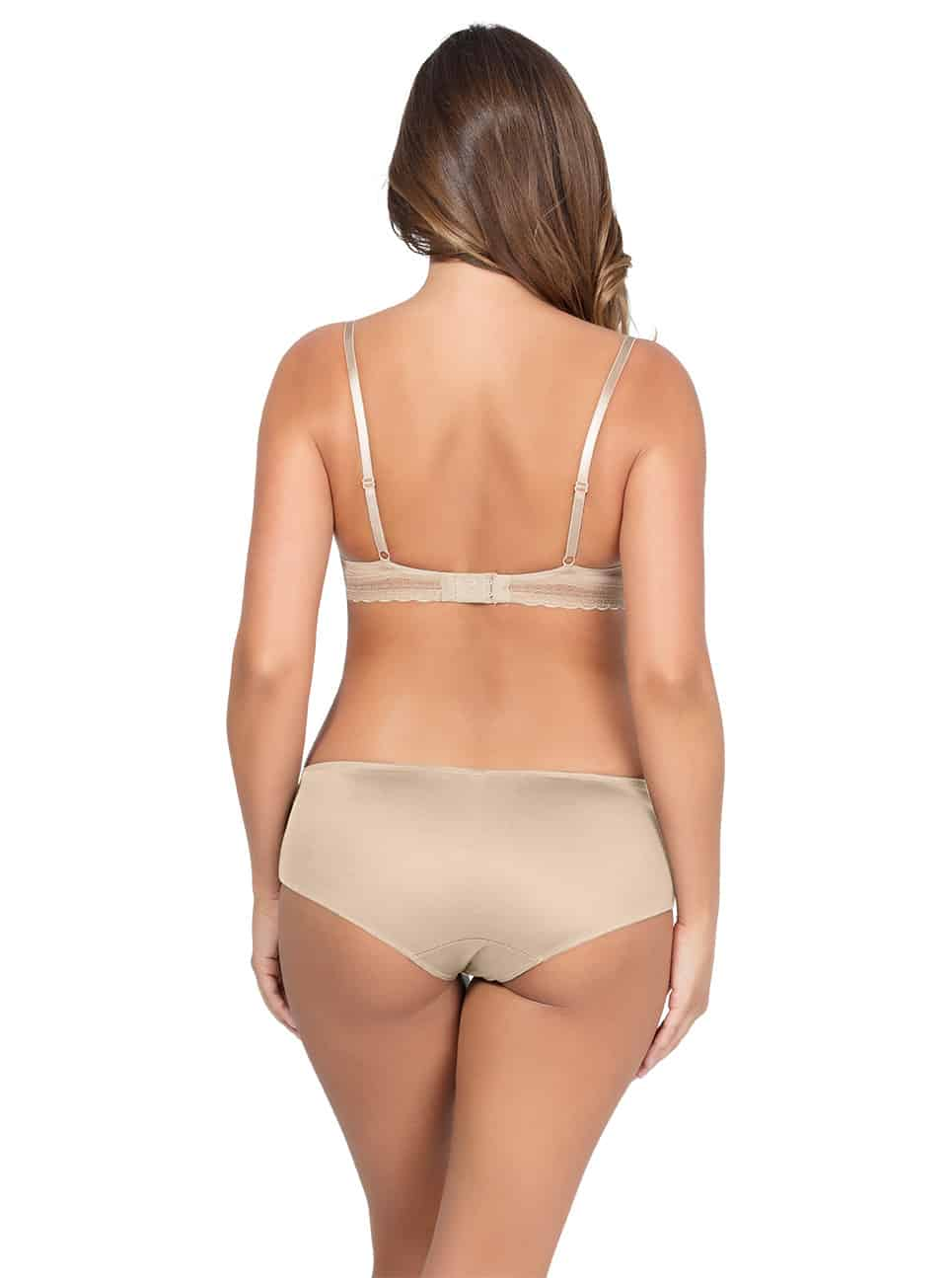 Emma Wire FreeSoftPaddedBraP5491 HipsterP5495 Bare Back - Emma Wire-Free Soft Padded Bra - Bare - P5491