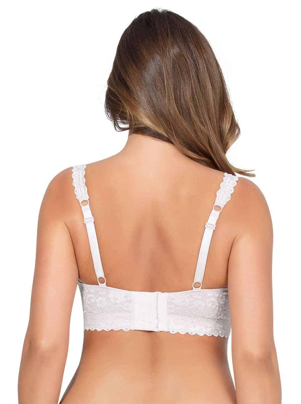 PARFAIT Adriana LaceBraletteP5482 PearlWhite Back copy - Adriana Lace Bralette - Pearl White - P5482