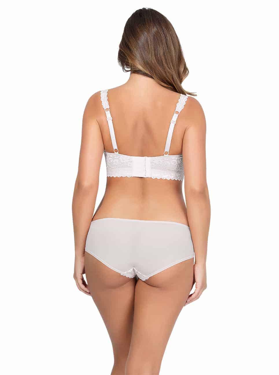 PARFAIT Adriana LaceBraletteP5482 BikiniP5483 PearlWhite Back copy 2 - Adriana Bikini - Pearl White - P5483