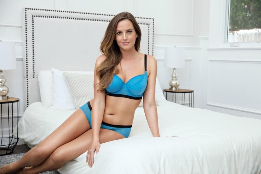 blue sexy bras
