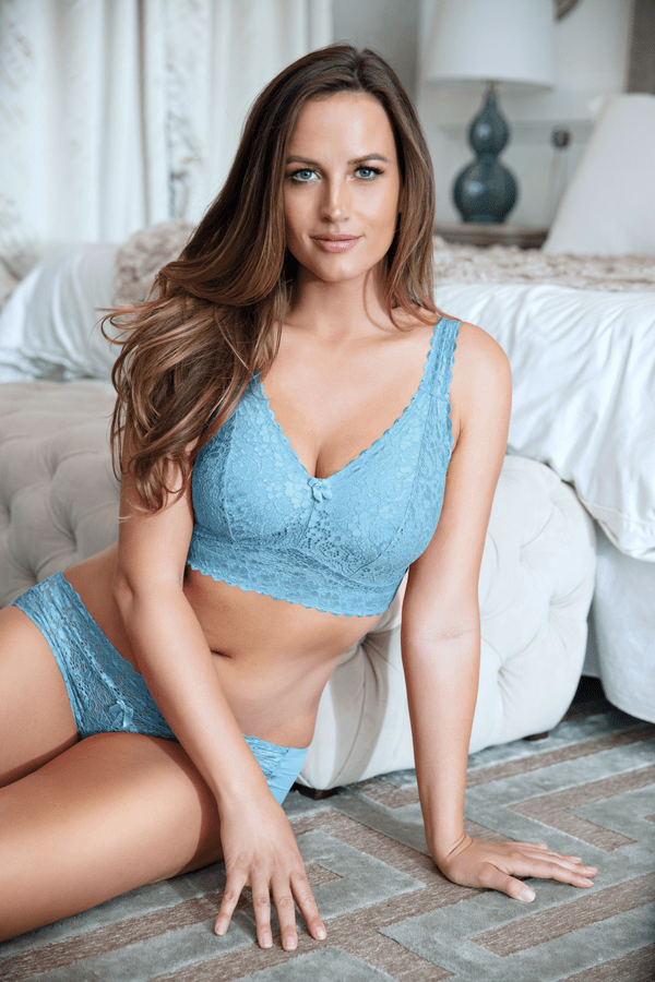 lace bralette blue