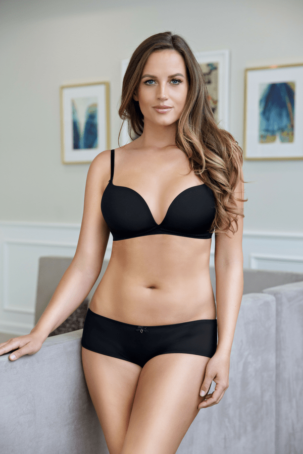 black wireless padded bra