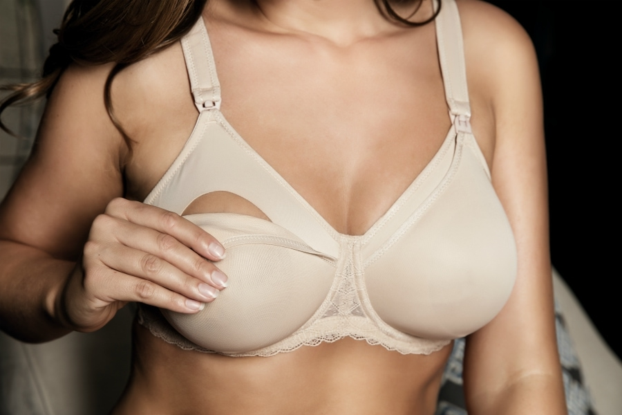 how do nursing bras work