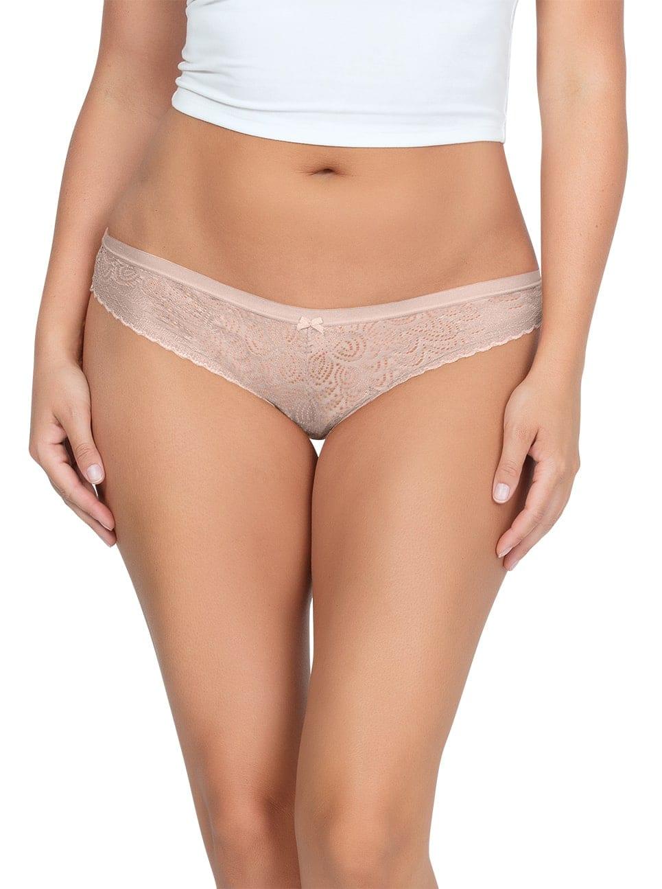 ParfaitPanty SoGlam BikiniPP302 Bare Front copy - Panty So Glam Bikini - Bare - PP302