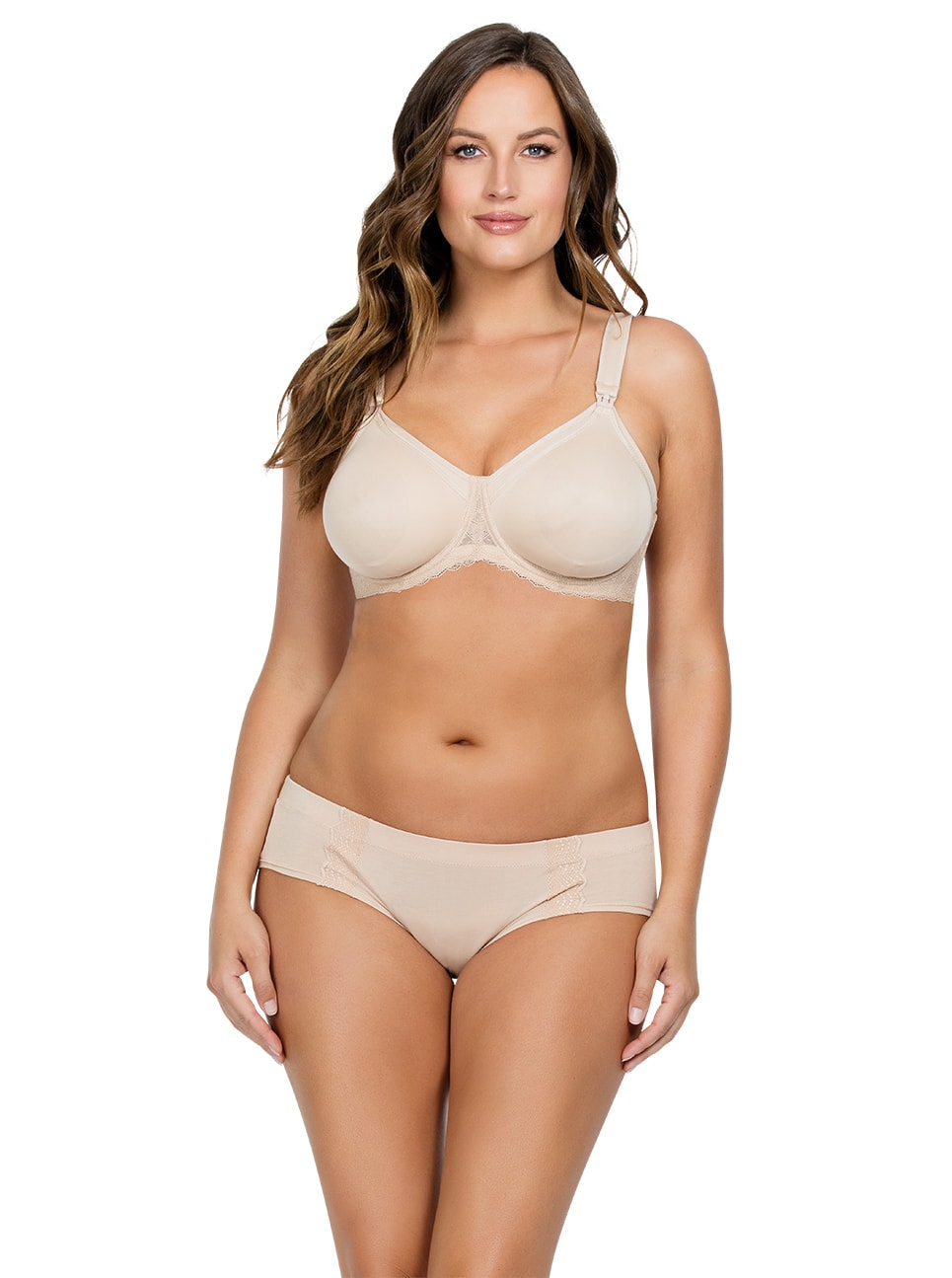 PARFAIT Leila NursingBraPNB502 Bare Front copy - Leila Nursing Bra- Bare - NB502