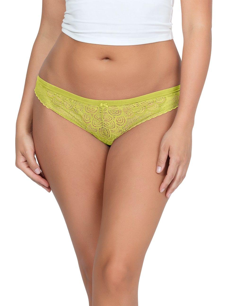 ParfaitPanty SoGlam ThongPP402 Lemonade front - Panty So Glam Thong - Lemonade - PP402