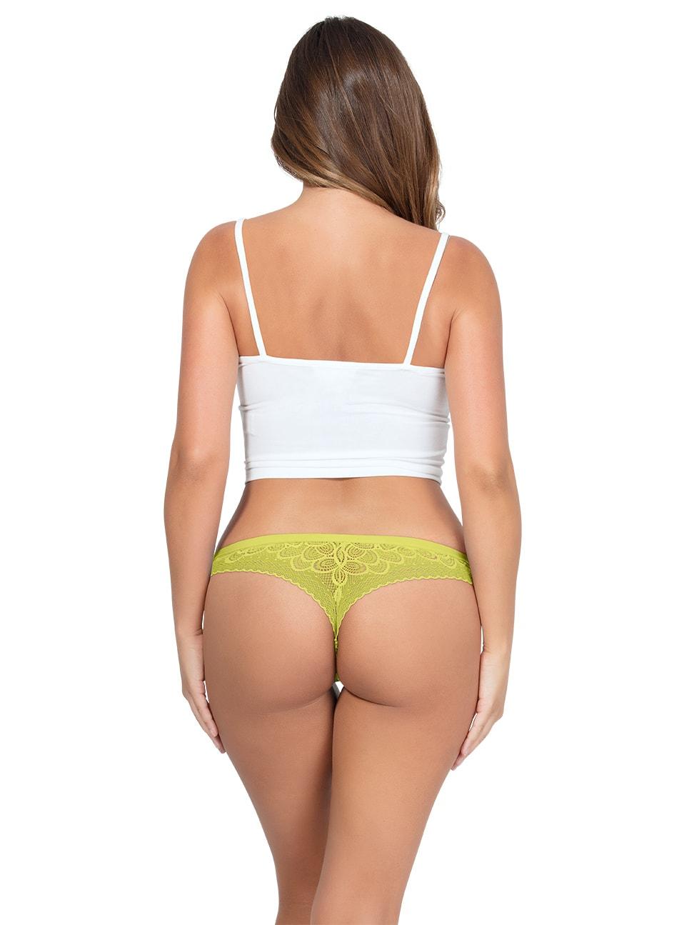 ParfaitPanty SoGlam ThongPP402 Lemonade Back copy - Panty So Glam Thong - Lemonade - PP402