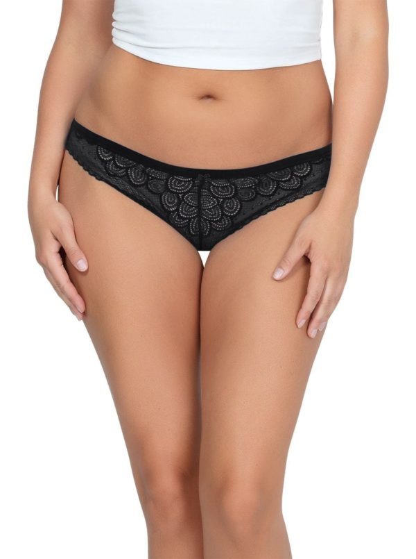 ParfaitPanty SoGlam ThongPP402 black front 600x805 - Panty So Glam Thong - Black - PP402
