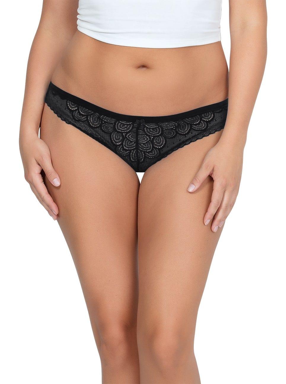 ParfaitPanty SoGlam ThongPP402 black front - Panty So Glam Thong - Black - PP402