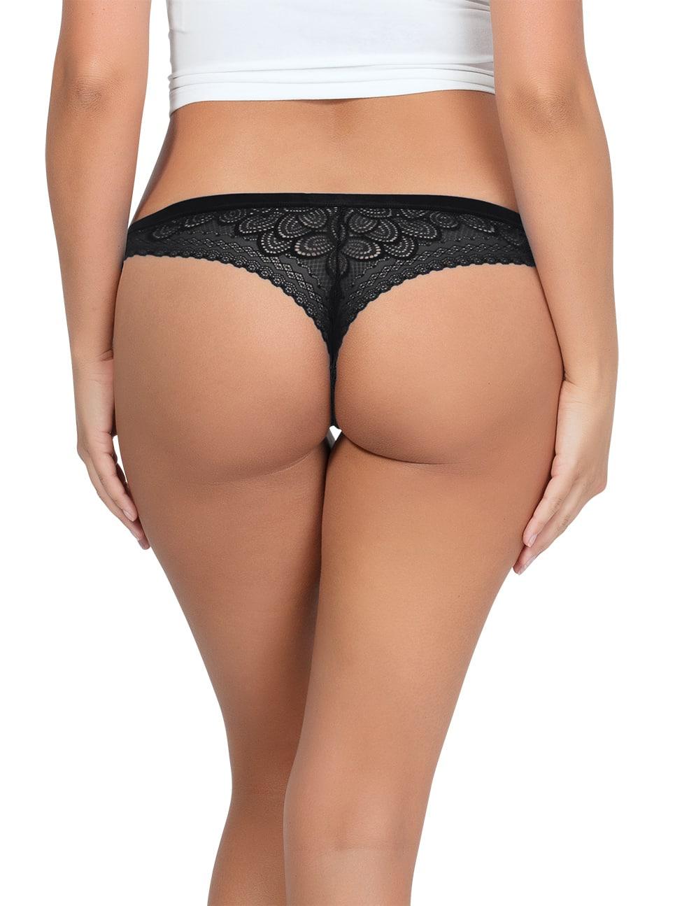 ParfaitPanty SoGlam ThongPP402 black back - Panty So Glam Thong - Black - PP402