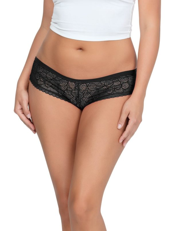 ParfaitPanty SoGlam HipsterPP502 Black front1 600x805 - Panty So Glam Hipster - Black - PP502