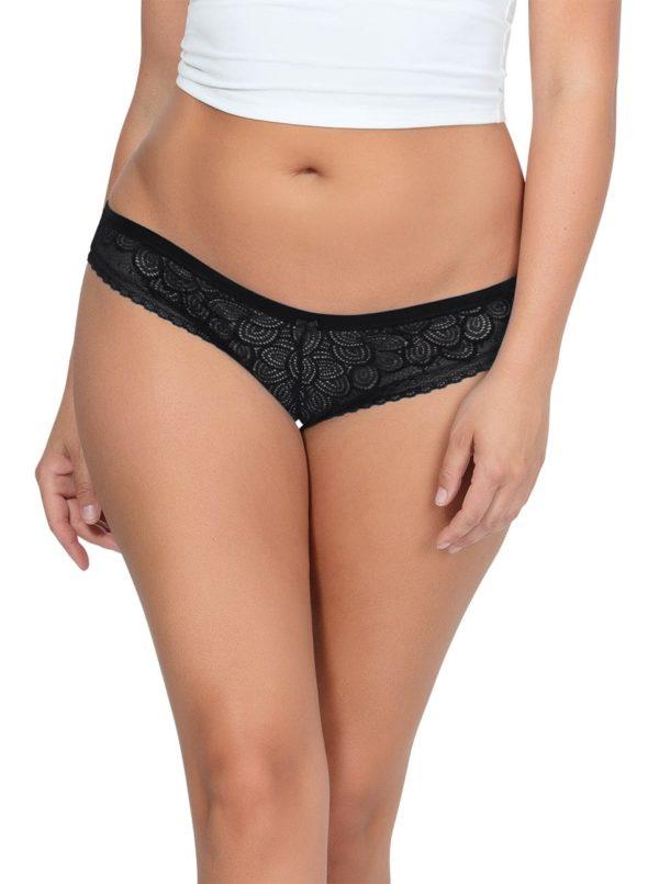 ParfaitPanty SoGlam BikiniPP302 Black front 600x805 - Panty So Glam Bikini - Black - PP302