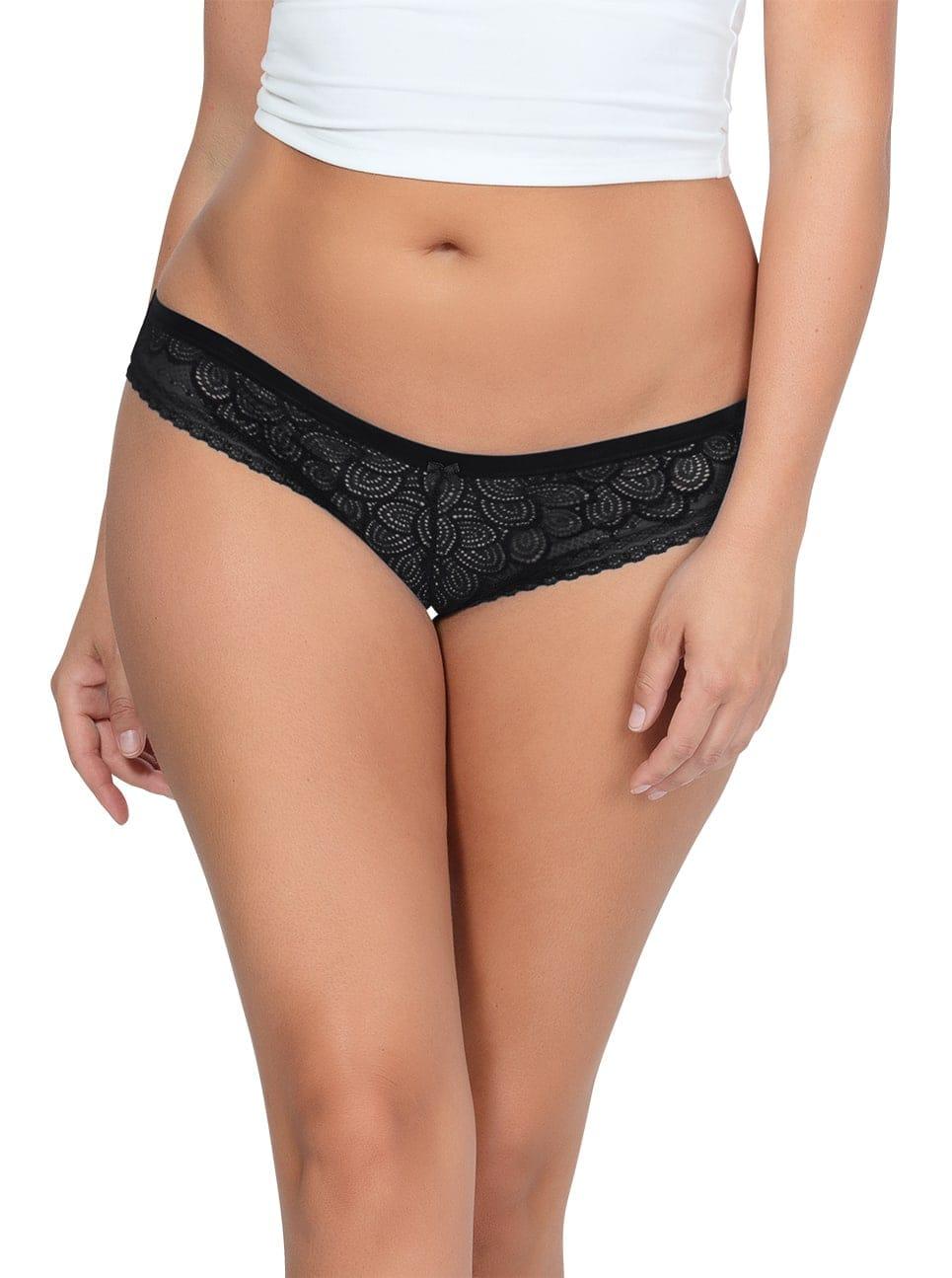 ParfaitPanty SoGlam BikiniPP302 Black front - Panty So Glam Bikini - Black - PP302