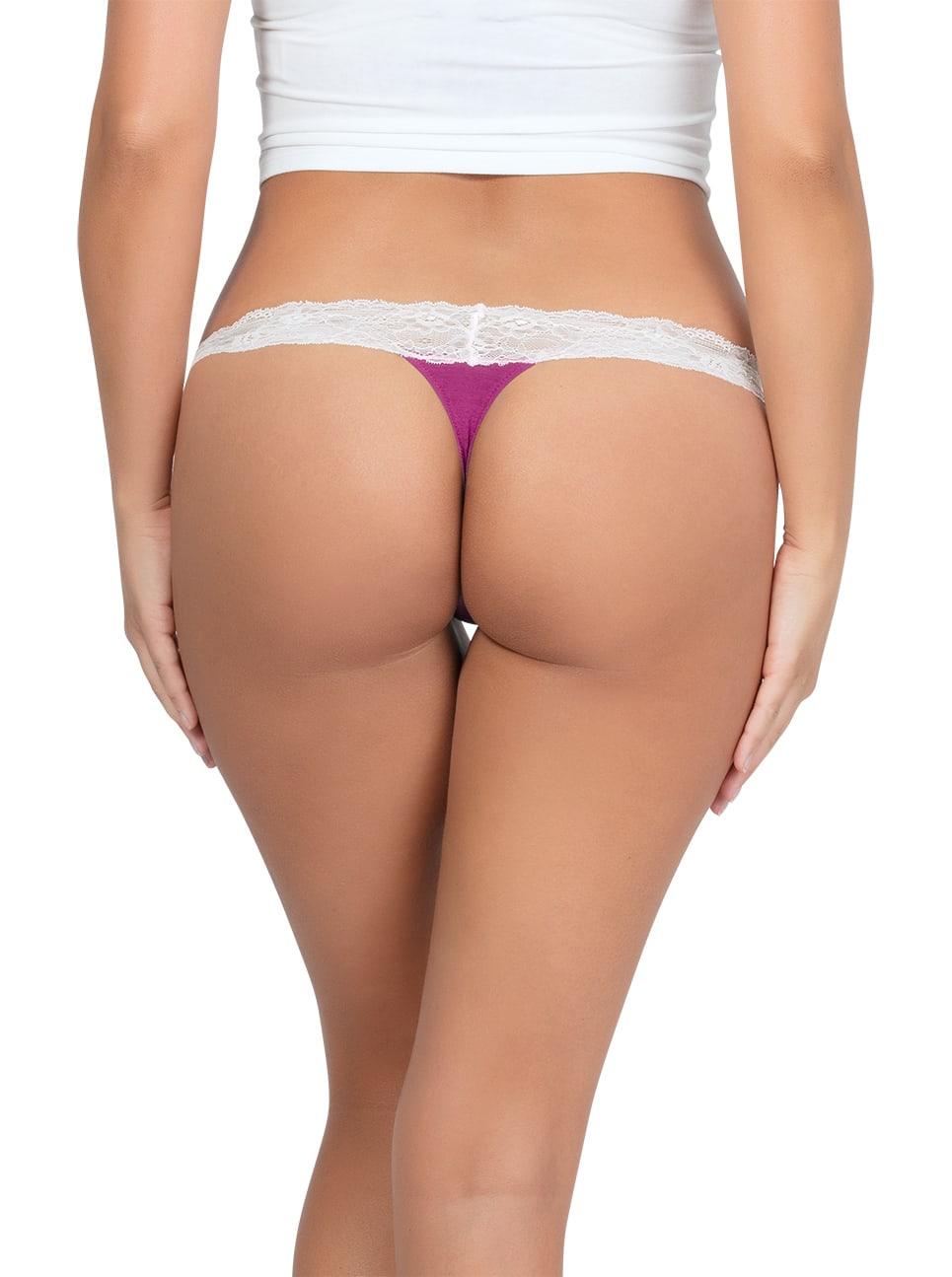 PARFAIT ParfaitPanty SoEssential ThongPP403 WildPinkIvory Back - Panty So Essential Thong - Wild Pink - PP403