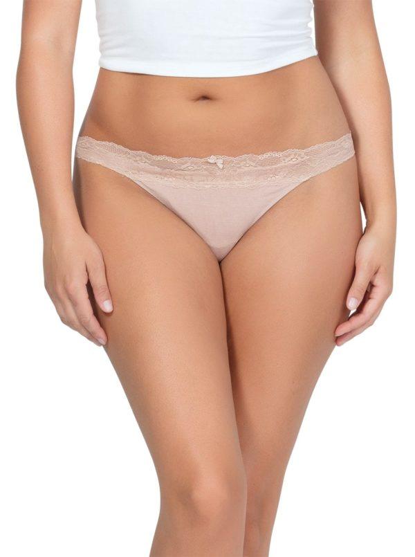 PARFAIT ParfaitPanty SoEssential ThongPP403 Bare Front 600x805 - Panty So Essential Thong- Bare - PP403