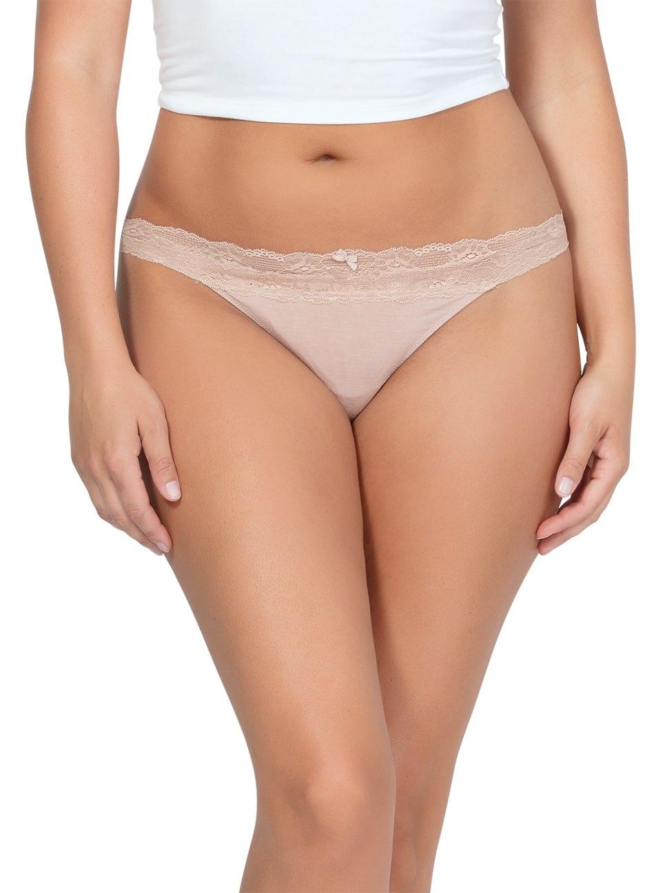 PARFAIT ParfaitPanty SoEssential ThongPP403 Bare Front - Panty So Essential Thong- Bare - PP403
