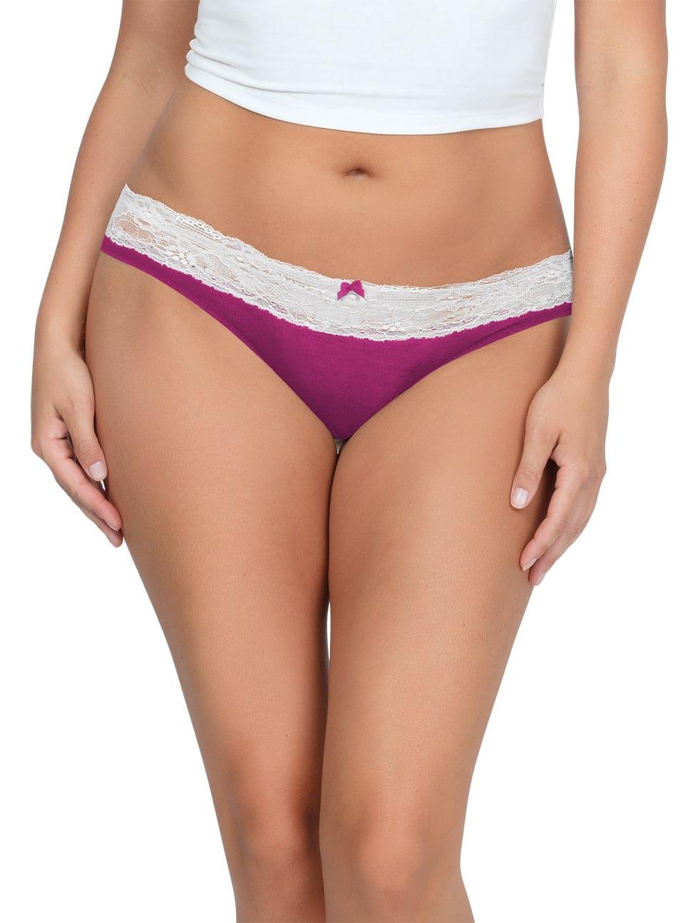 PARFAIT ParfaitPanty SoEssential BikiniPP303 WildPinkIvory Front - Panty So Essential Bikini- Wild Pink - PP303