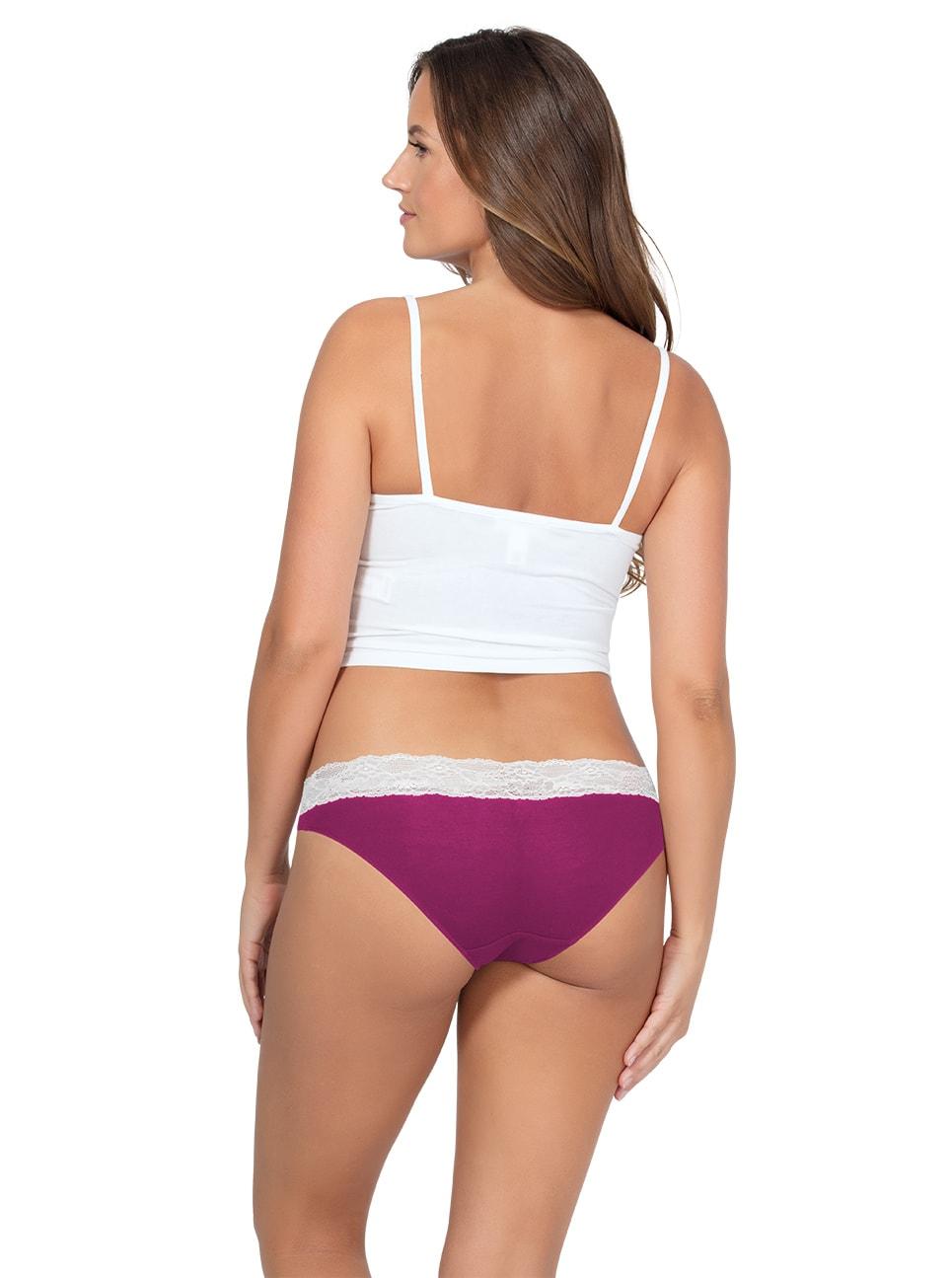 PARFAIT ParfaitPanty SoEssential BikiniPP303 WildPinkIvory Back copy - Panty So Essential Bikini- Wild Pink - PP303