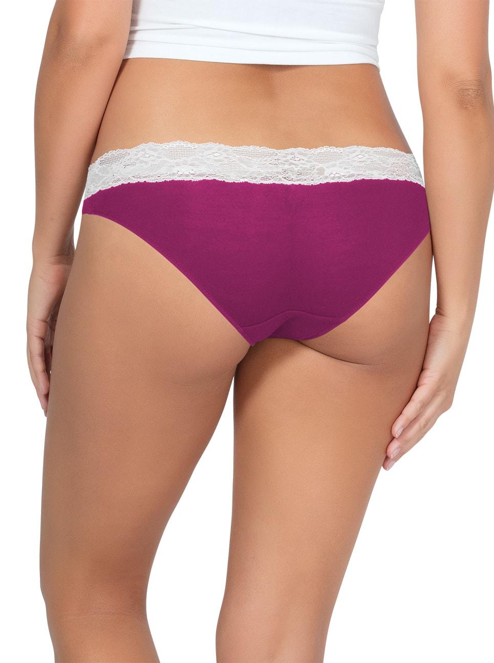 PARFAIT ParfaitPanty SoEssential BikiniPP303 WildPinkIvory Back - Panty So Essential Bikini- Wild Pink - PP303