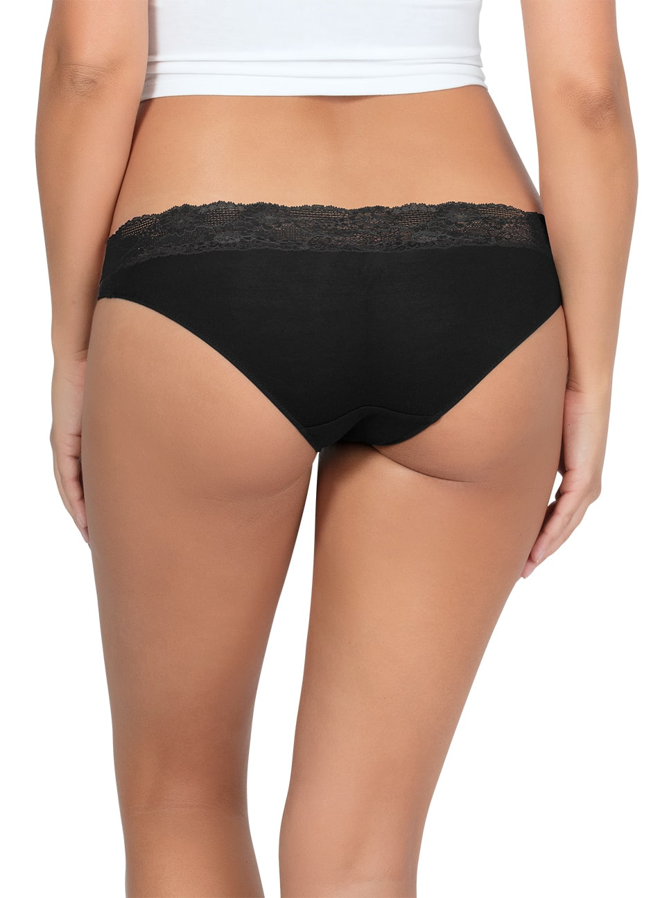 PARFAIT ParfaitPanty SoEssential BikiniPP303 Black Back close - Panty So Essential Bikini- Black - PP303