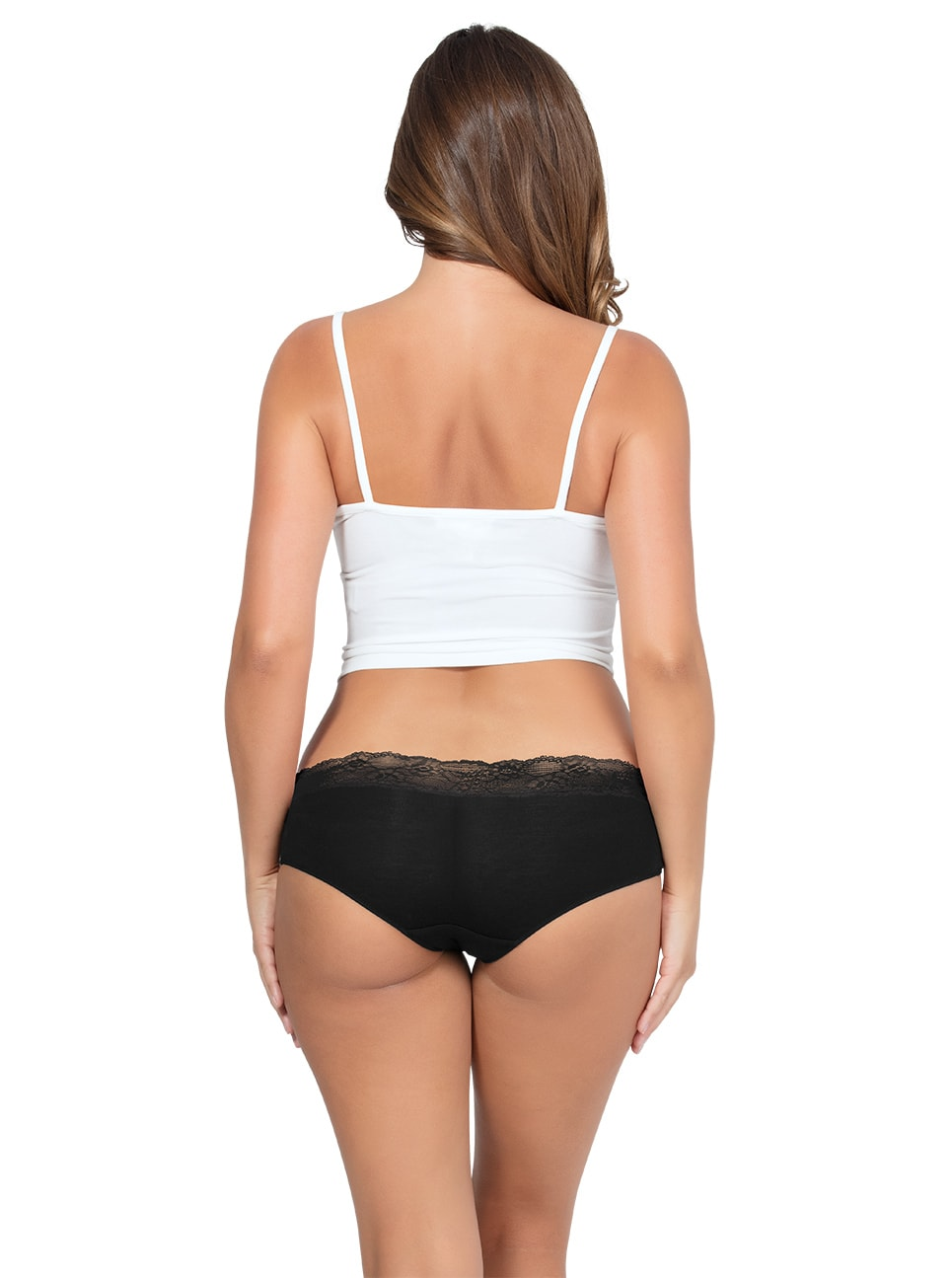 PARFAIT ParfaitPanty SoEssential HipsterPP503 Black Back copy - Panty So Essential Hipster - Black - PP503