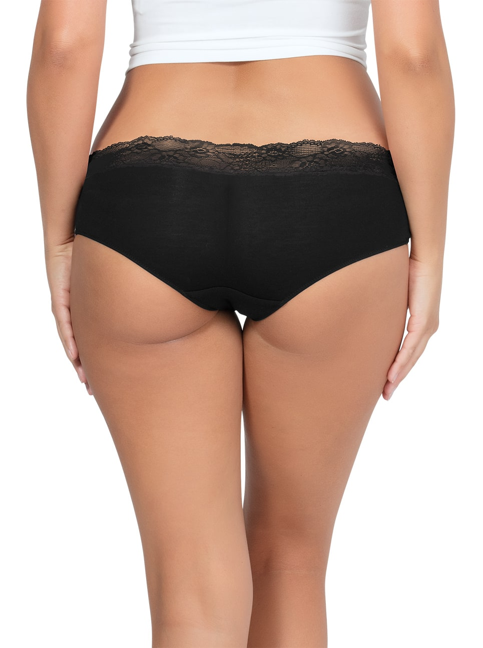 PARFAIT ParfaitPanty SoEssential HipsterPP503 Black Back - Panty So Essential Hipster - Black - PP503