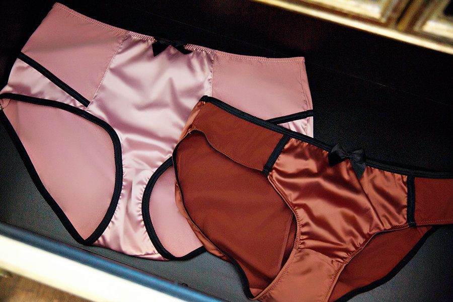organize lingerie drawer