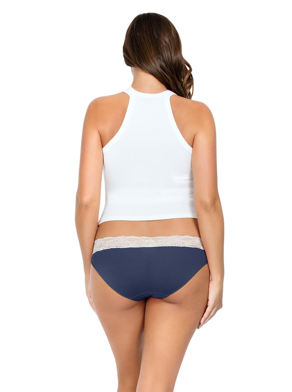 PARFAIT ParfaitPanty SoEssential BikiniPP303 NavyBlue Back - Panty So Essential Bikini- Navy - PP303