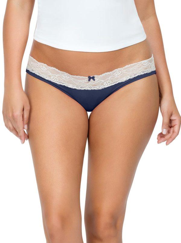 PARFAIT ParfaitPanty SoEssential BikiniPP303 NavyBlue Front close 600x805 - Panty So Essential Bikini- Navy - PP303