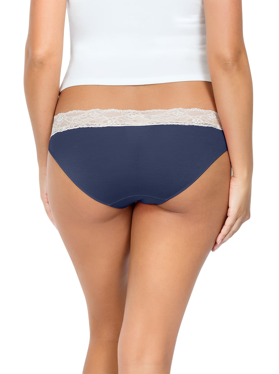 PARFAIT ParfaitPanty SoEssential BikiniPP303 NavyBlue Back close - Panty So Essential Bikini- Navy - PP303