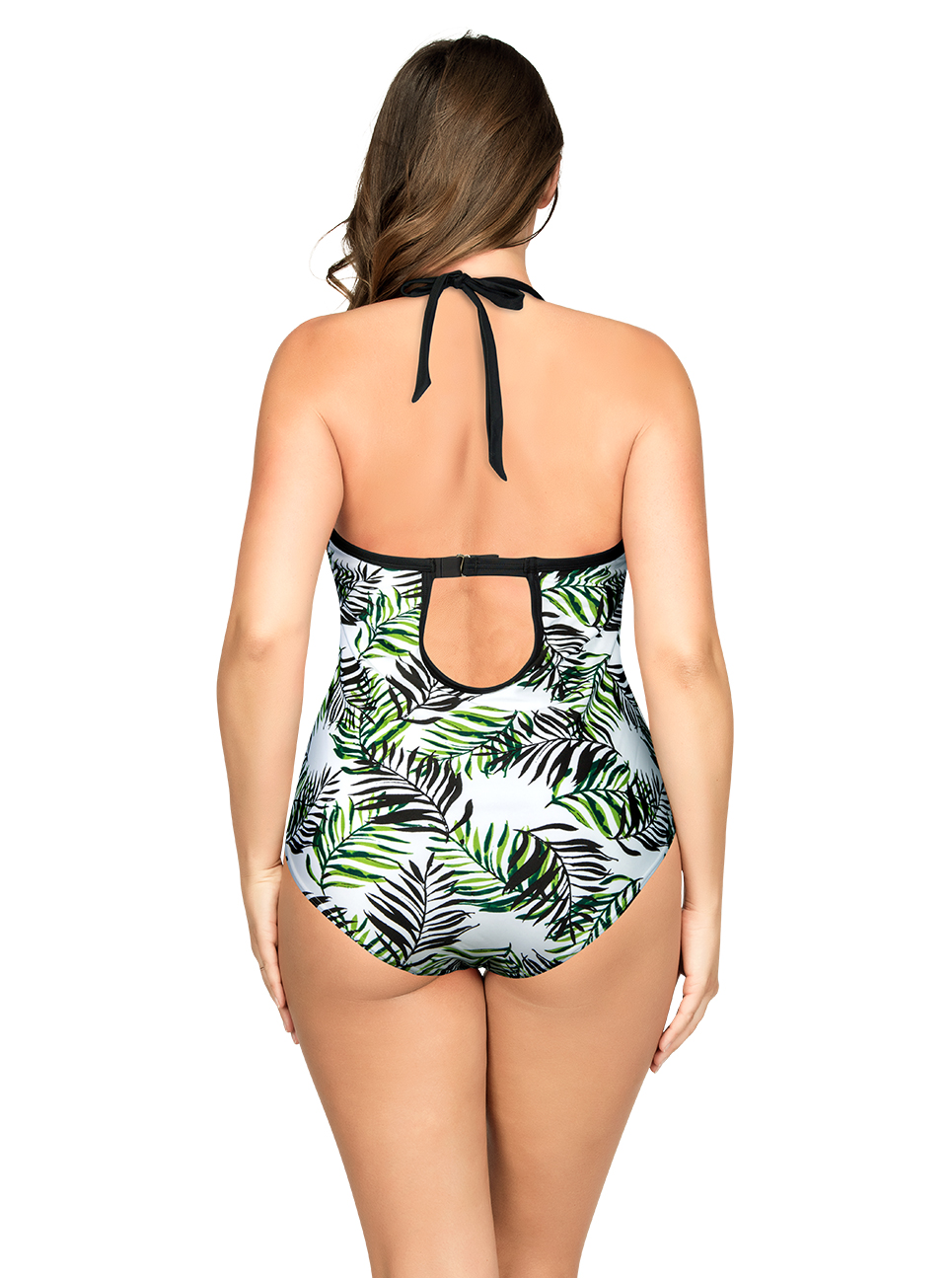 PARFAIT Christy OnePieceSwimsuitS8056 WildLeaves Back - Christy One-Piece Swimsuit Wild Leaves S8056