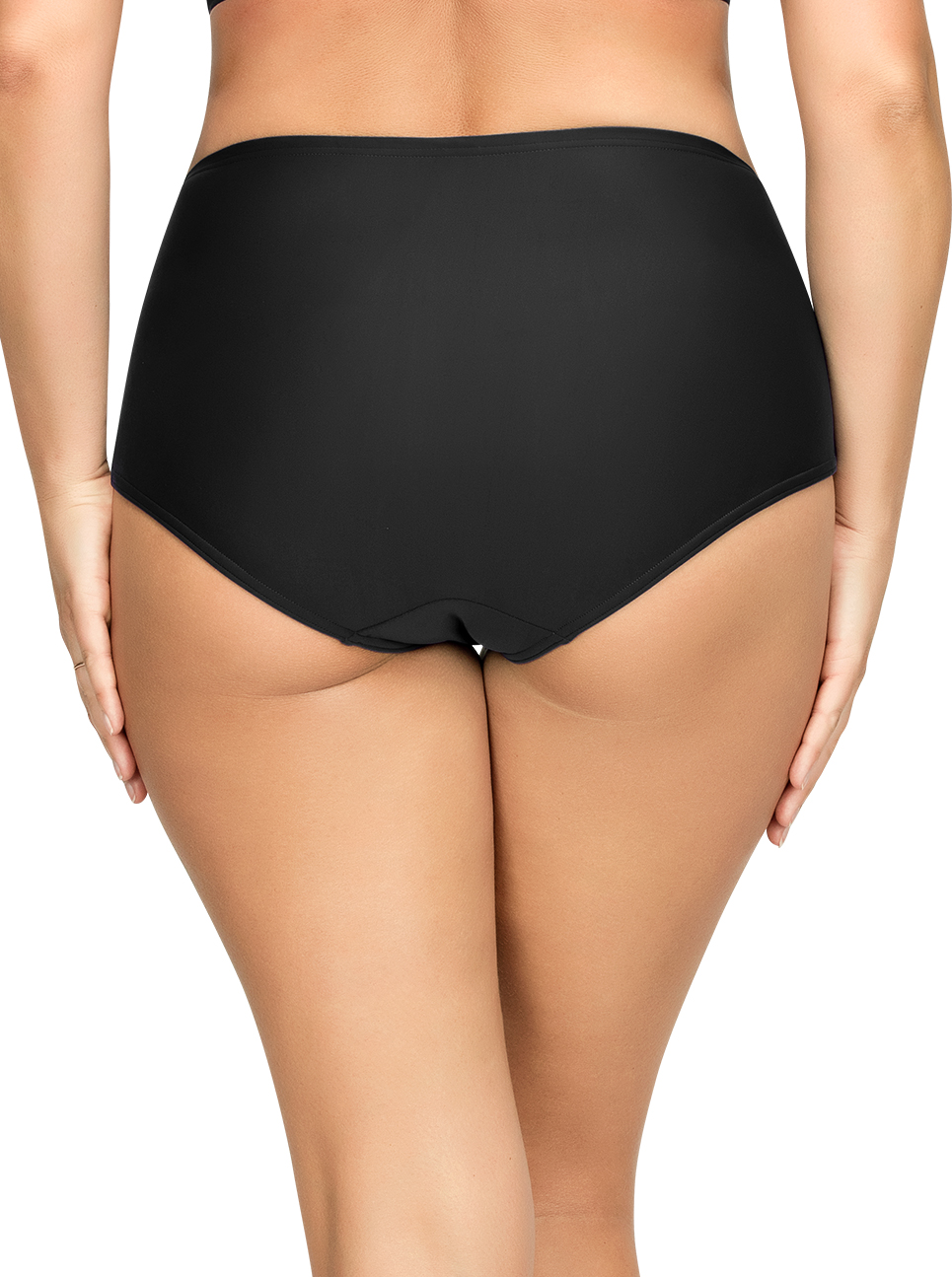 PARFAIT Keira HighWaistBikiniBottomS8075 Black Back - Keira High-Waist Bikini Bottom Black S8075