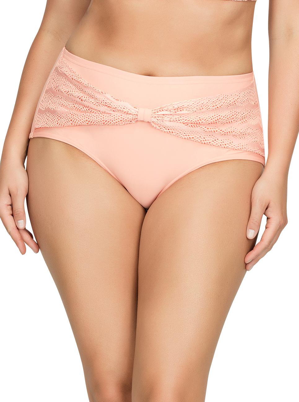 PARFAIT Keira HighWaistBikiniBottomS8075 Peach Front1 - Keira High-Waist Bikini Bottom Peach S8075