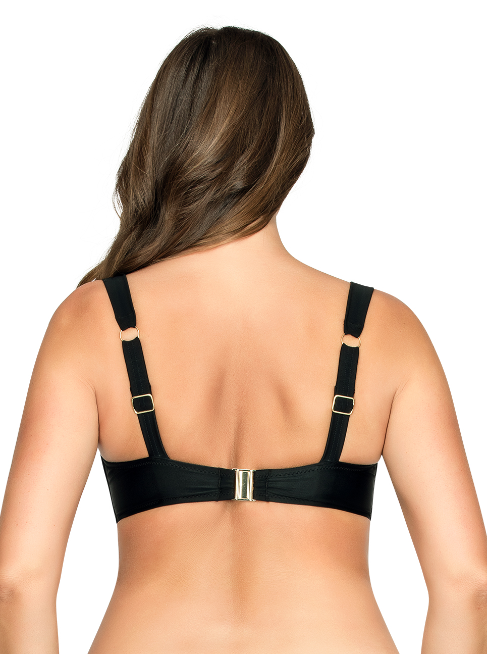 PARFAIT Oceane SoftPaddedBikiniTopS8061 Black Back - Oceane Soft-Padded Bikini Top Black S8061
