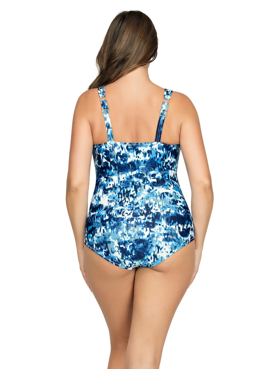 PARFAIT Oceane OnePieceSwimsuitS8066 SplashPrint Back - Oceane One-Piece Swimsuit Splash Print S8066
