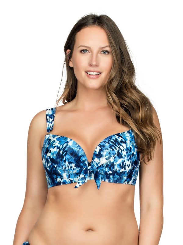 PARFAIT Oceane SoftPaddedBikiniTopS8061 SplashPrint Front1 600x805 - Oceane Soft-Padded Bikini Top Splash Print S8061