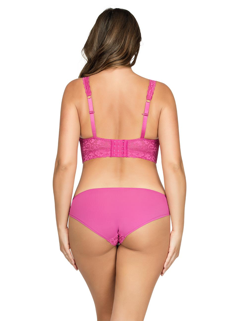PARFAIT Adriana LaceBraletteP5482 BikiniP5483 Raspberry Back - Adriana Lace Bralette - Raspberry - P5482