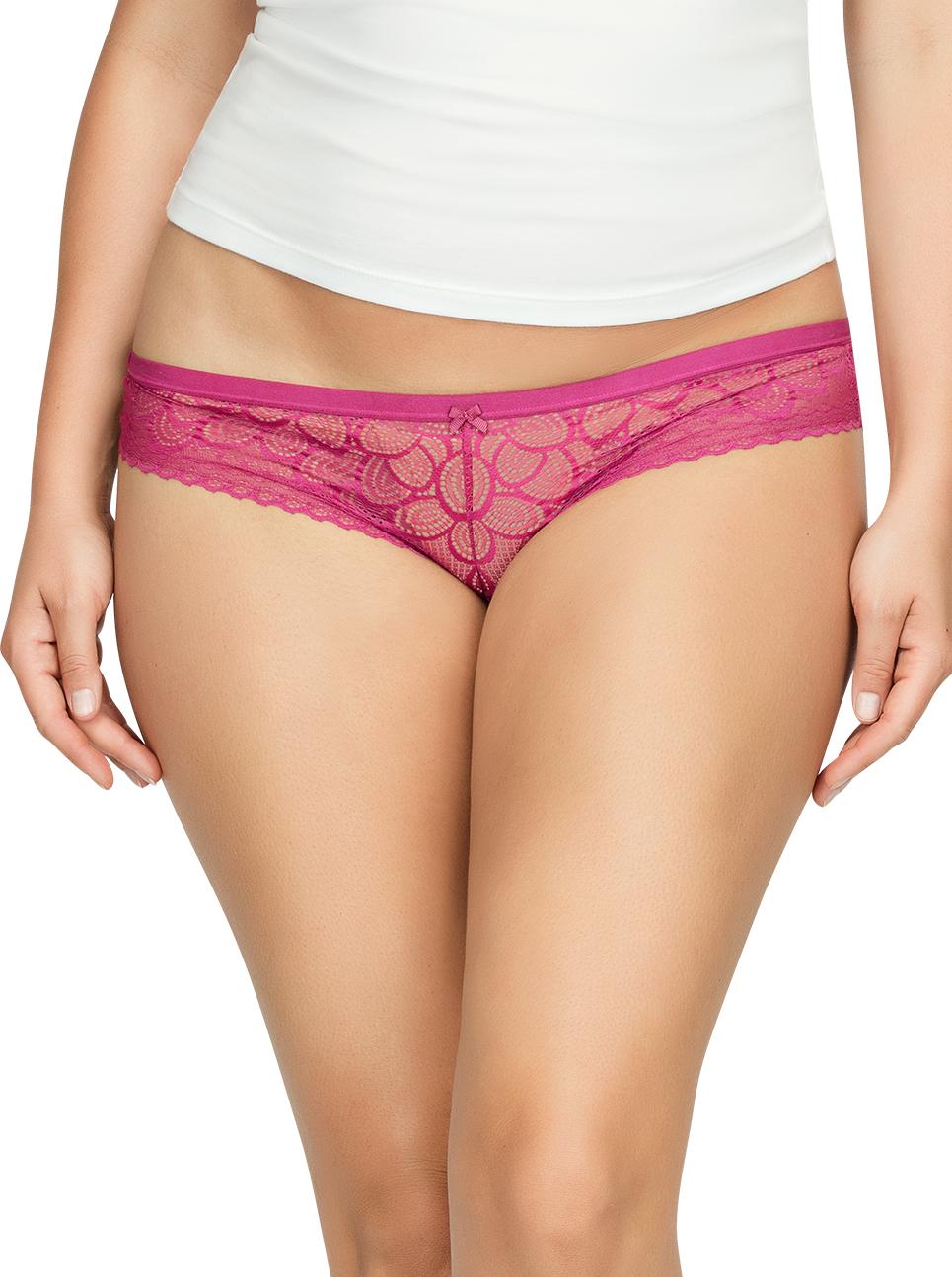 PARFAIT ParfaitPanty SoGlam BikiniPP302 Raspberry Front1 - Panty So Glam Bikini - Raspberry - PP302