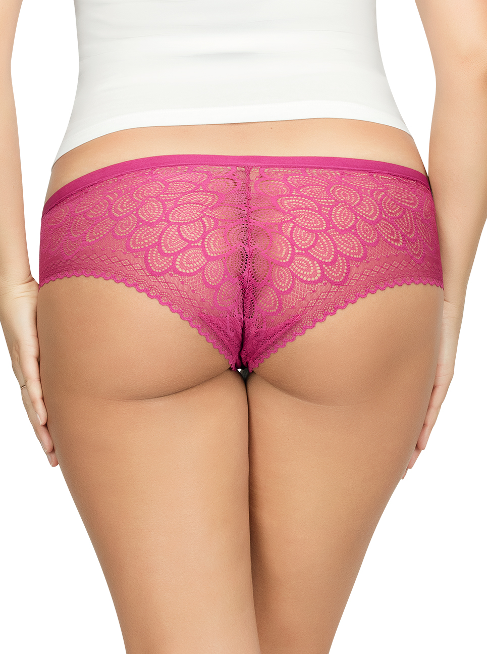 PARFAIT ParfaitPanty SoGlam HipsterPP502 Raspberry Back - Panty So Glam Hipster - Raspberry - PP502