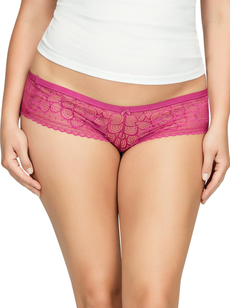PARFAIT ParfaitPanty SoGlam HipsterPP502 Raspberry Front1 - Parfait Panty So Glam Hipster - Raspberry - PP502