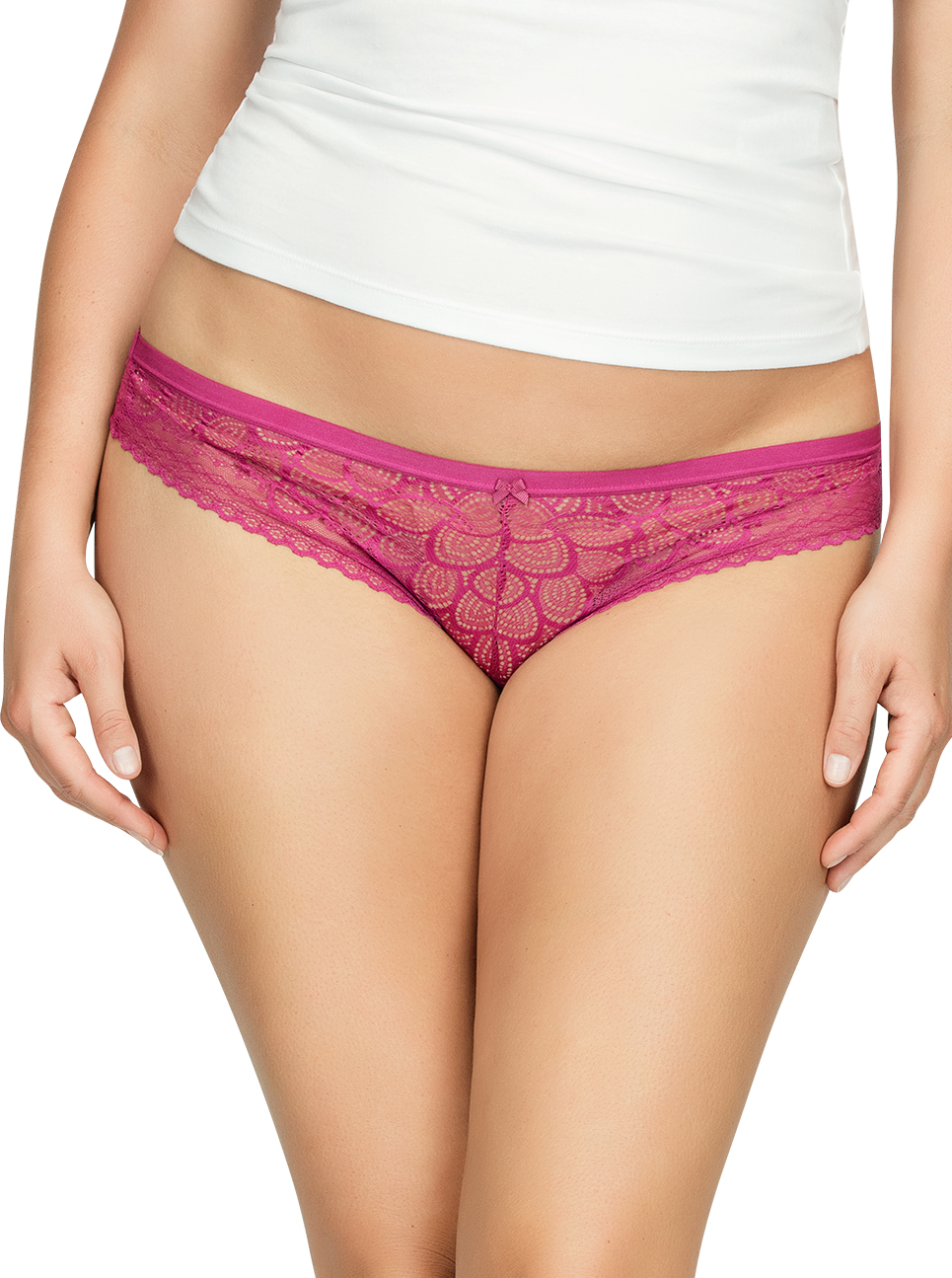 PARFAIT ParfaitPanty SoGlam ThongPP402 Raspberry Front1 - Panty So Glam Thong - Raspberry - PP402
